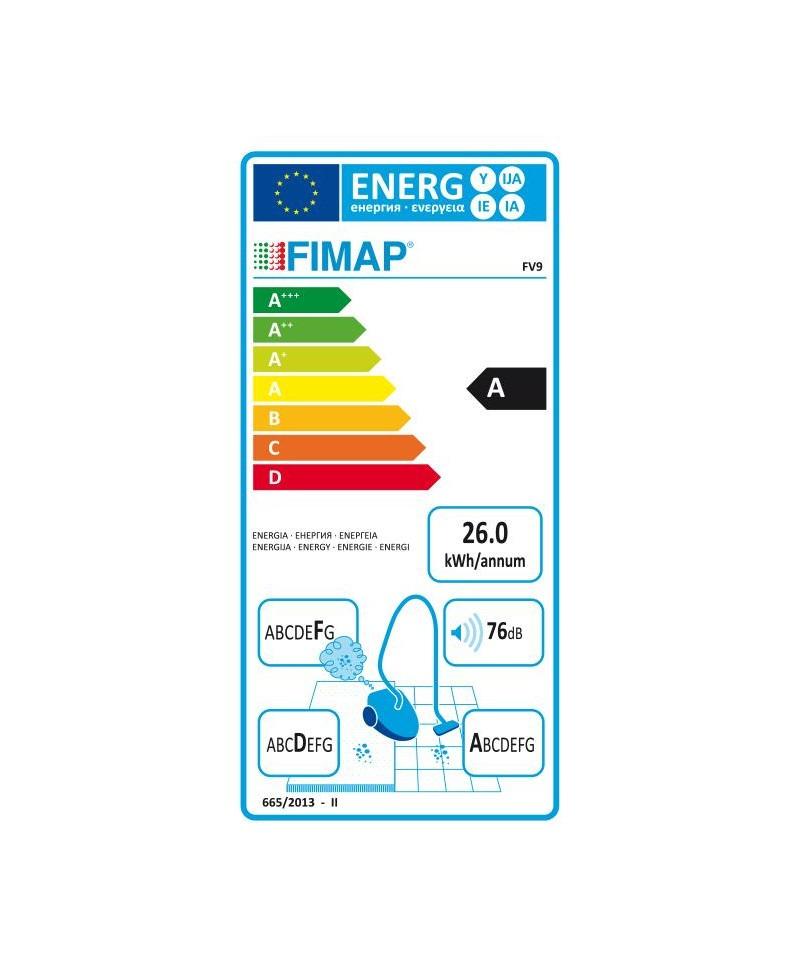 aspirador de costas com cabo fimap fv9 eu energy label