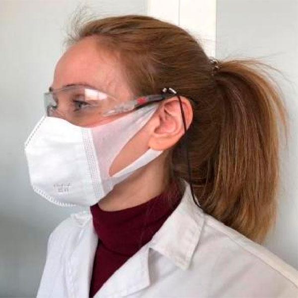 Máscara facial protetora descartável FFP2 - lidermaq