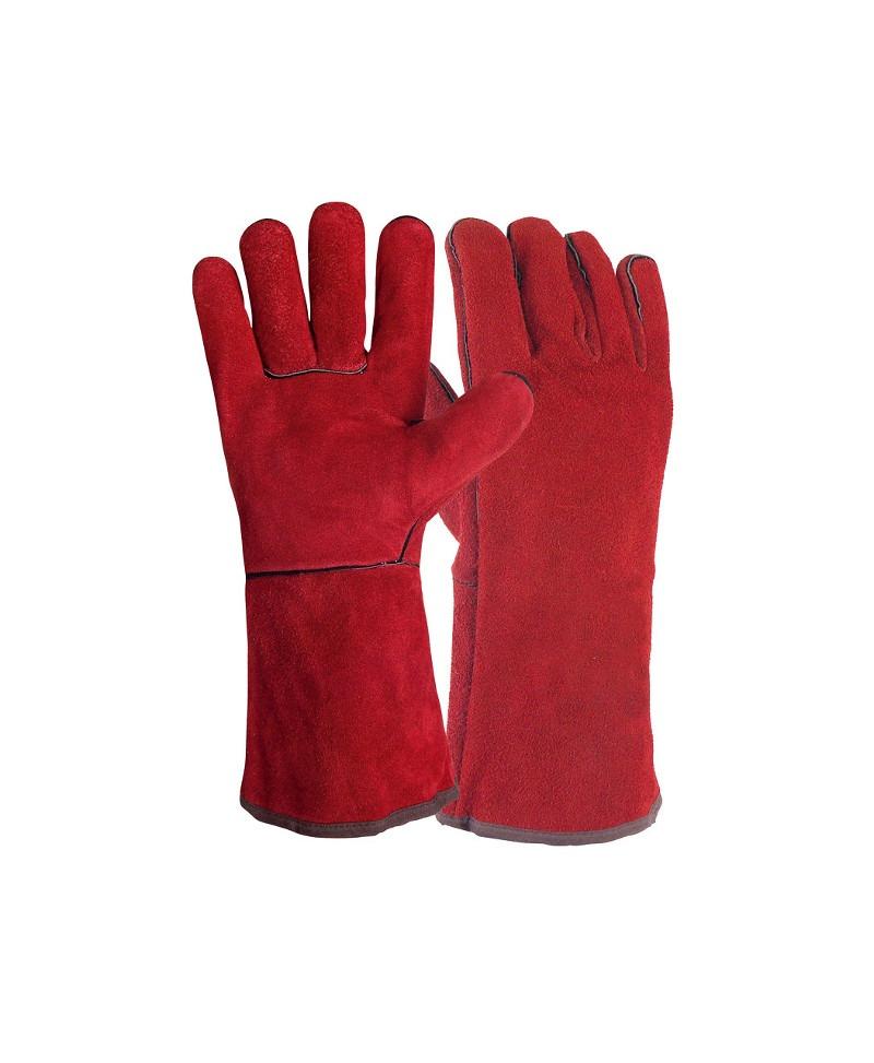 Luva de soldador em pele crute e interior 100% algodão - Lidermaq