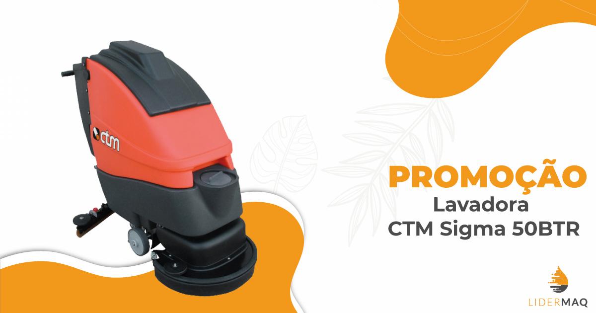Lavadora de pavimentos CTM Sigma 50BTR
