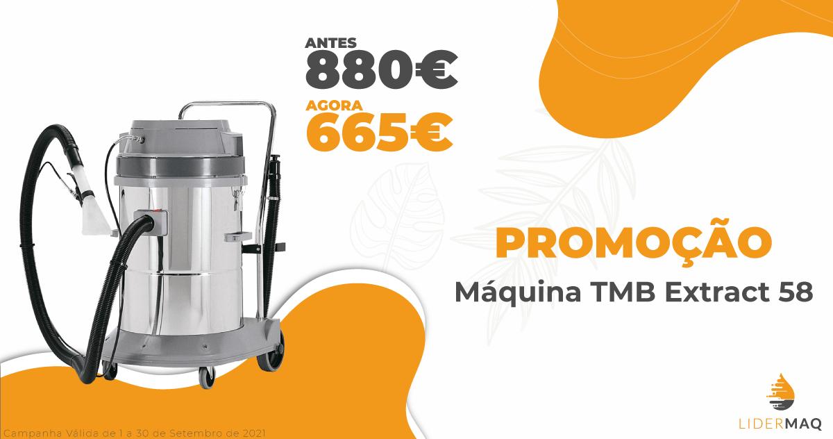 Máquina Injeção/ Extração TMB Extract 58 - Promoções